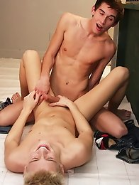 Brunette and blonde boys get hardcore sex and suck each other